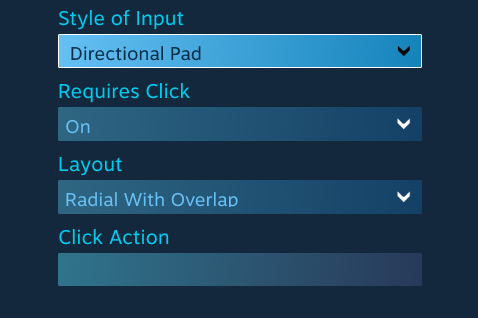 control configuration options steam controller