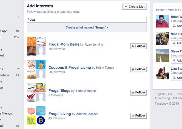 facebook-frugal-lists