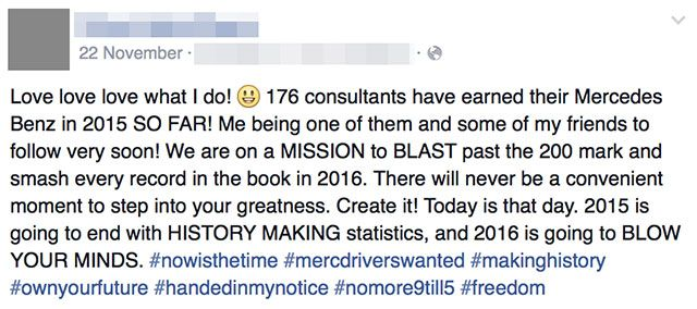 Don't Let Your Facebook Friends Sell You a Pyramid Scheme mlmfacebook1