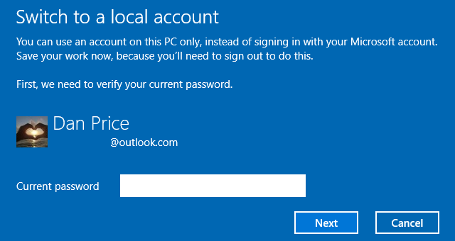 windows-10-sign-in-local-account confirmation