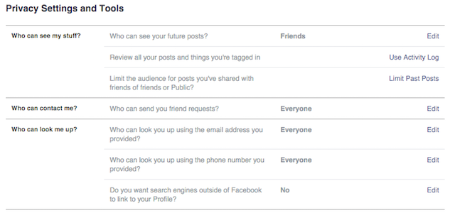 FacebookPrivacySettings