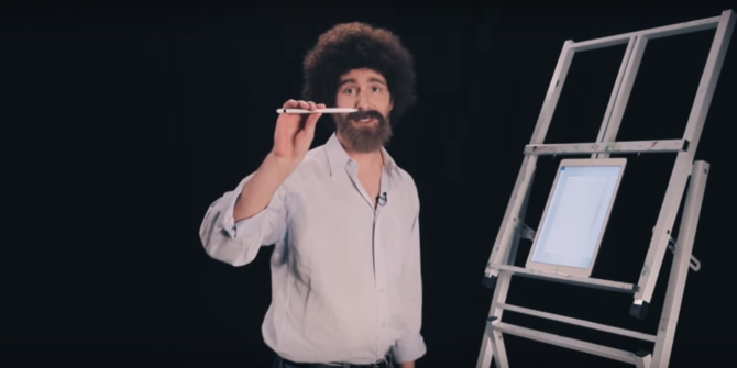 Bob Ross Meets iPad Pro in This Hilarious (and Informative) Video