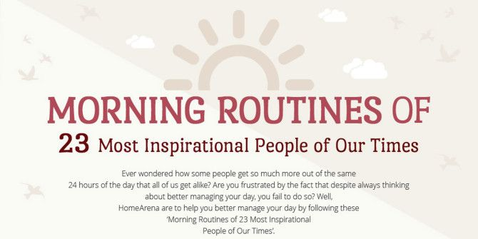 The Morning Routines Of Some of the Most Successful People