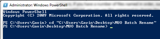 PowerShell Use cd Command