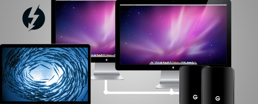Use a Thunderbolt Daisychain to Connect Your Mac Accessories ... Daisy Chain Monitors Wiring Diagram on