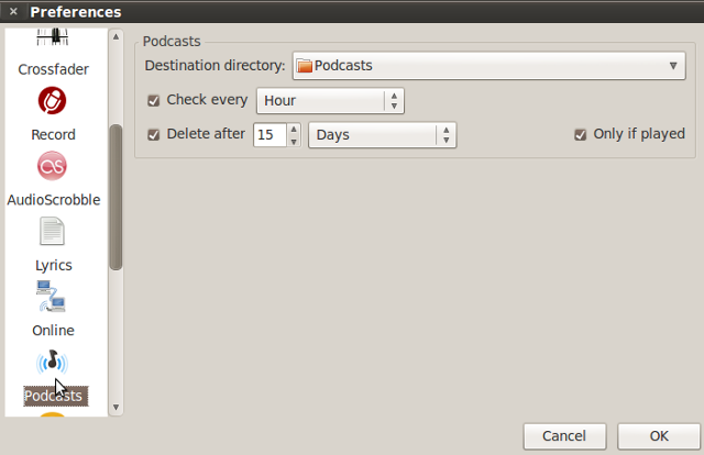 linux-podcast-tools-guayadeque-settings