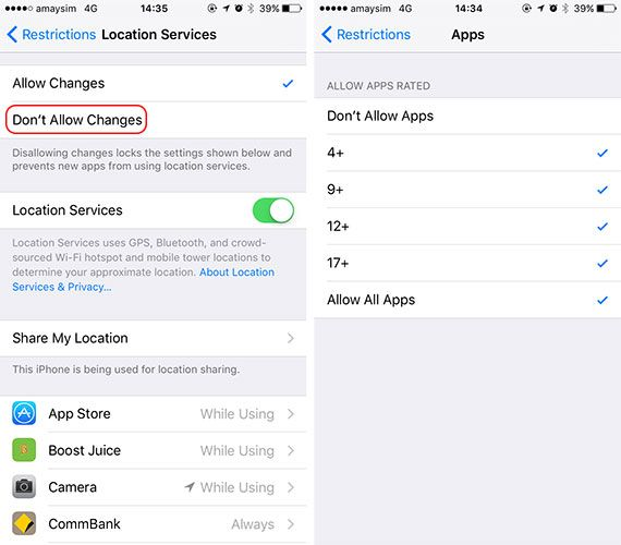 Lock Down Your Child's iPhone Access & Hide Apps With iOS Restrictions location allowedapps