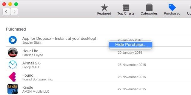 How to Hide Your iTunes and Mac App Store Purchases