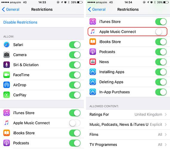 Lock Down Your Child's iPhone Access & Hide Apps With iOS Restrictions restrictions music