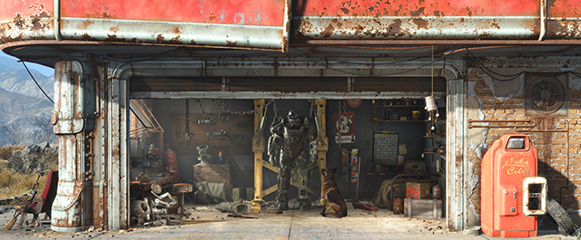 Fallout 4 Gas Station Scene