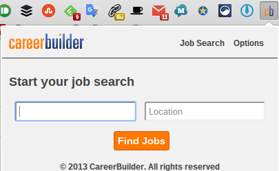 Career Builder Chrome Extension