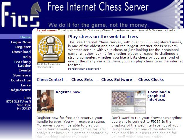 Free Internet Chess Server