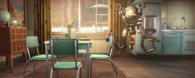 Fallout 4: Mr. Handy in the Kitchen