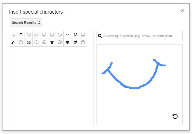 Google Drive -- Insert Special Characters