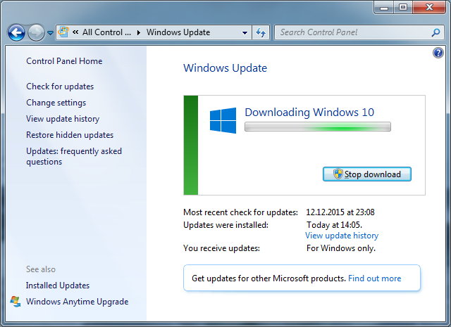 Microsoft strikes again how to not upgrade to windows 10 upgrade to windows 10 in windows 7 download ccuart Image collections
