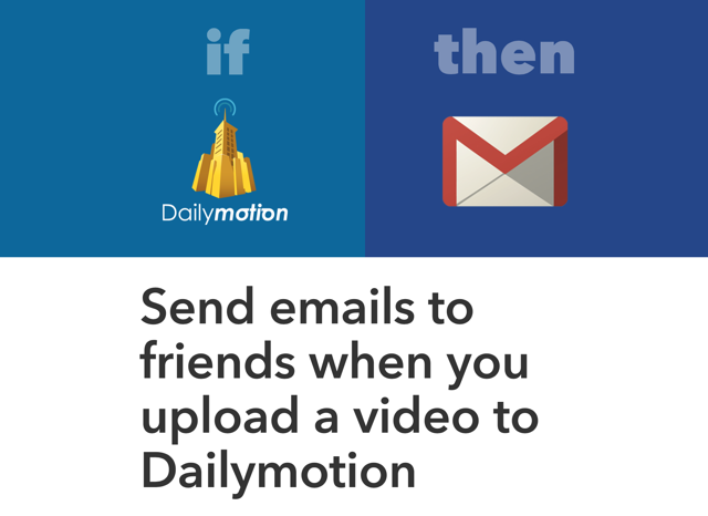 dailymotion-gmail-ifttt