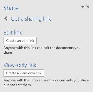 get a sharing link