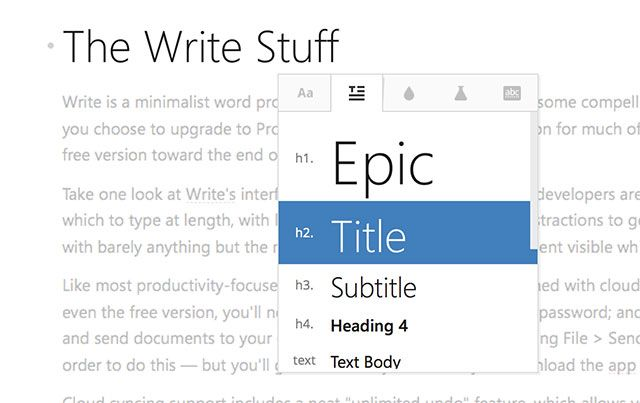 Write!: A Minimal Word Processor with Cloud Sync, Markdown & More write formatting