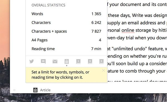 Write!: A Minimal Word Processor with Cloud Sync, Markdown & More write stats