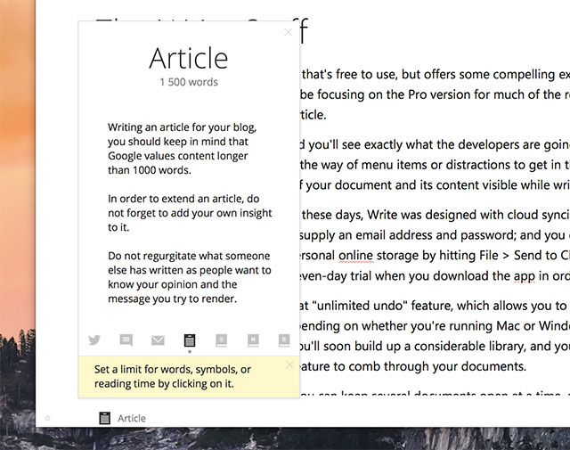 Write!: A Minimal Word Processor with Cloud Sync, Markdown & More write tips