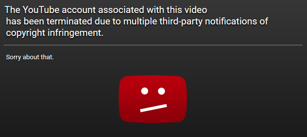 youtube termination