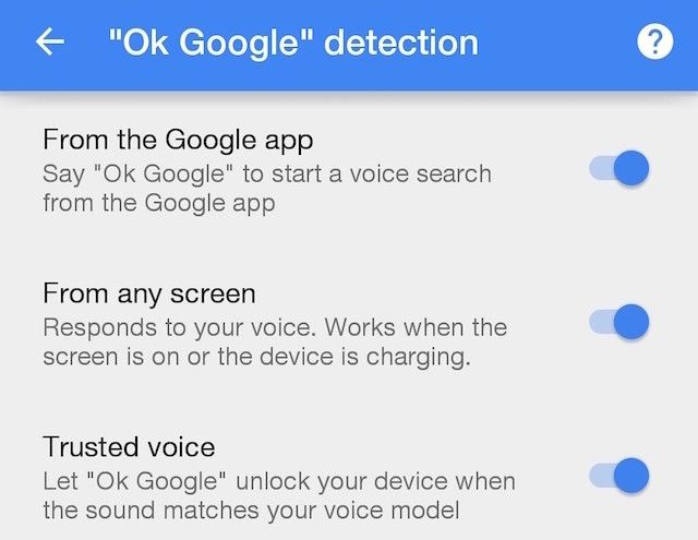 Google-Settings-OK-Google-Detection