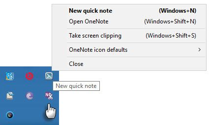 Quick Notes in OneNote