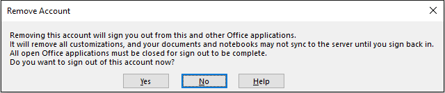 OneNote Sign Out Microsoft Account