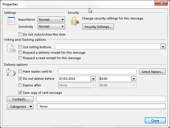 Outlook Email Scheduler