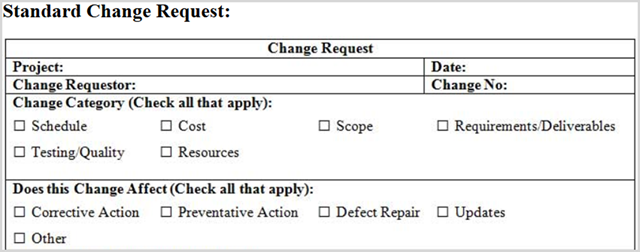 How to Manage Your Project with Word Templates Project Change Request Form Samples on change management form sample, project initiation form sample, project task form sample, project change order template, project implementation form sample,