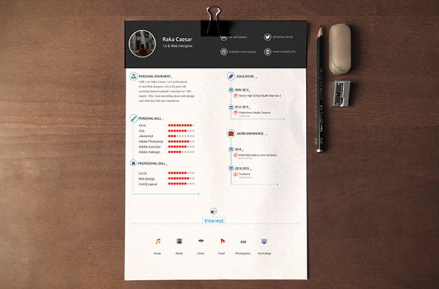 15 free creative resume templates for photoshop and