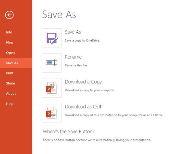 PowerPoint - Download a copy locally