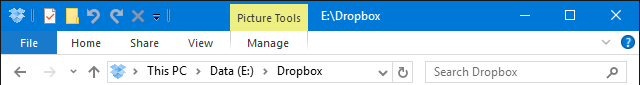 Windows 10 File Explorer Quick Access Toolbar