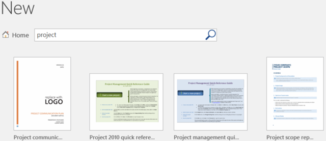 word project management templates