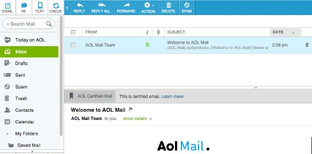 Aol anywhere mail