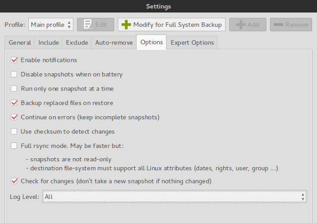 linux-system-restore-backintime-settings