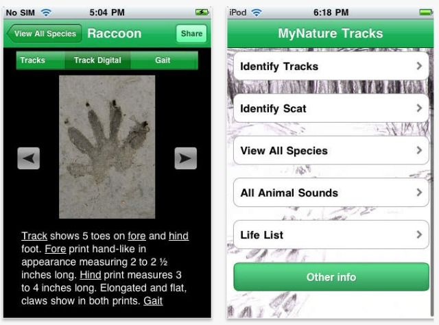 mynature animal tracks