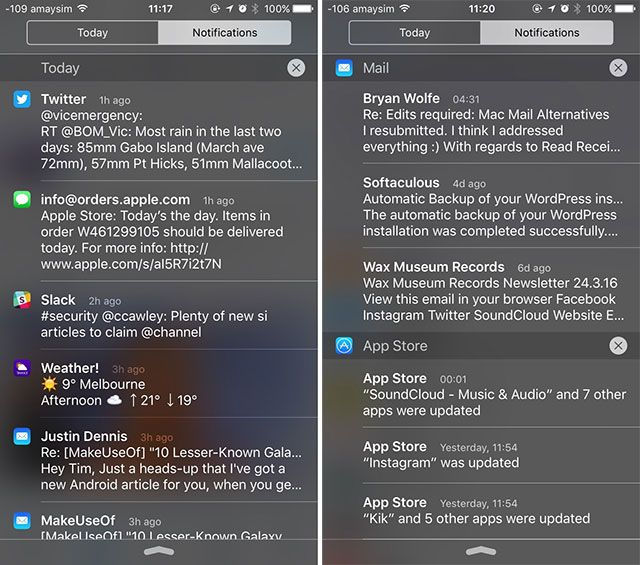 Take Control of iOS Notifications on Your iPhone or iPad notification center