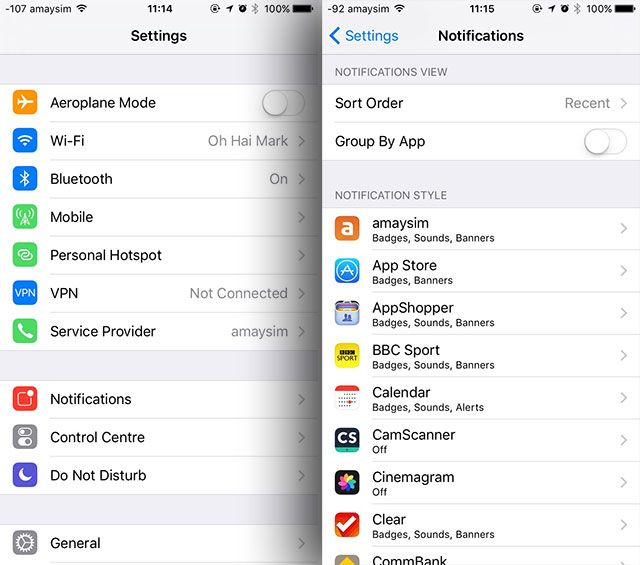 Take Control of iOS Notifications on Your iPhone or iPad settings notifications