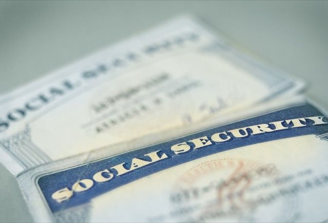 A pair of social security cards