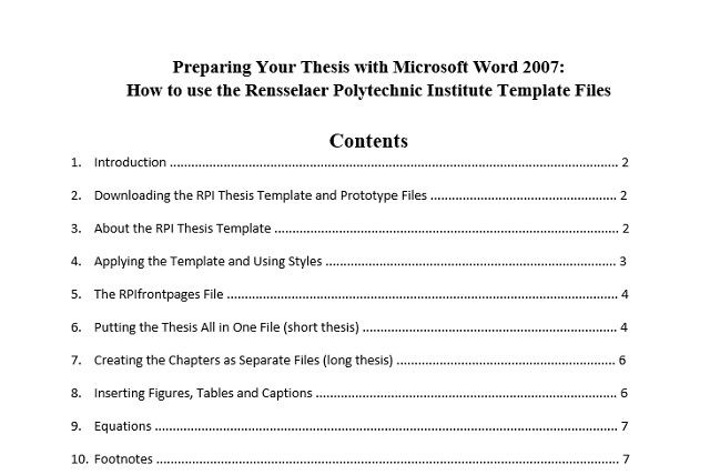 Best Table Of Contents Templates For Microsoft Word