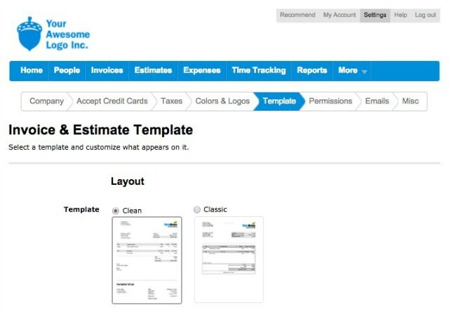 FreshBooks templates