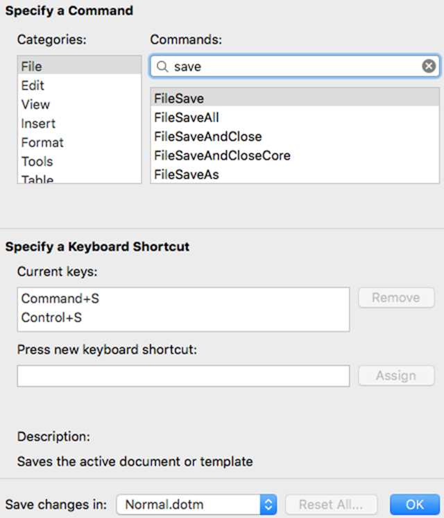 MacWordCustomizeKeyboardShortcuts