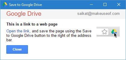Save Links to Google Drive