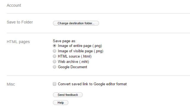 Save to Google Drive Options