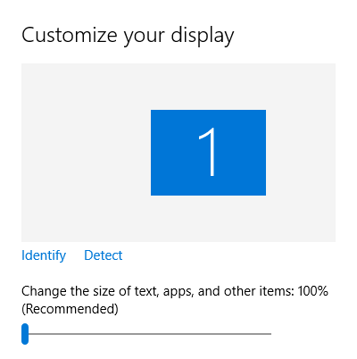 Windows 10 Customize Display Size