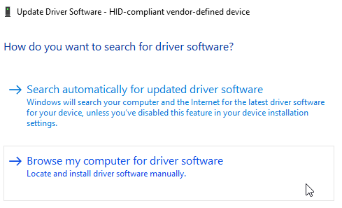 Windows 10 Update Driver Software