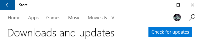 Windows Store Check for Updates