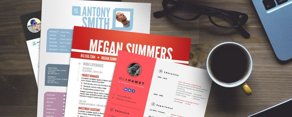 15 free creative resume templates for photoshop and illustrator