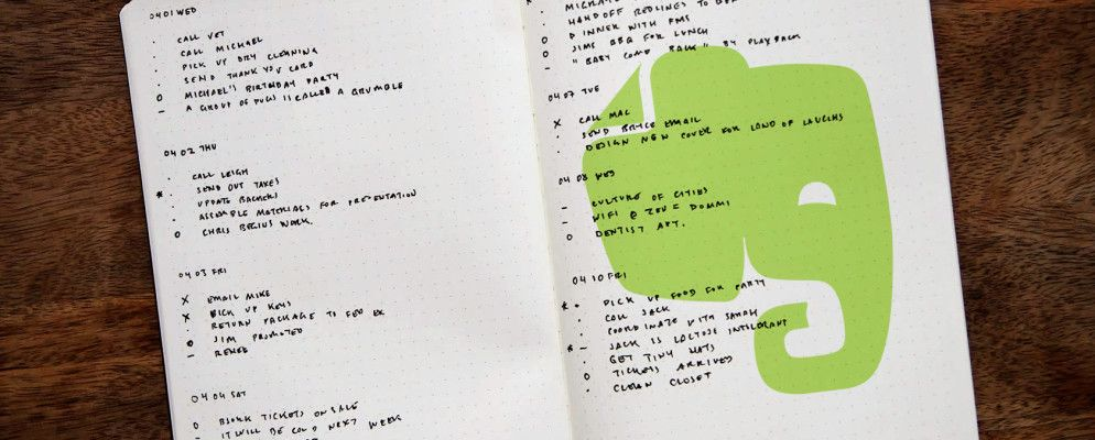 How to Use Evernote as a Bullet Journal